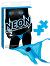 Neon Vibrating Crotchless Panty & Pasty Set Blue