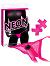 Neon Vibrating Crotchless Panty & Pasty Set Pink
