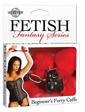 Fetish Fantasy - Beginners Furry Cuffs - Red