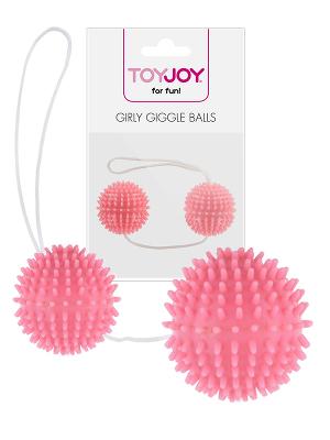 Girly Giggle Balls - Soft Pink