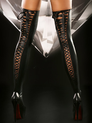 Lolitta - Lacing Stockings Black