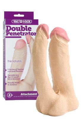 Vac-U-Lock - Natural Double Penetrator