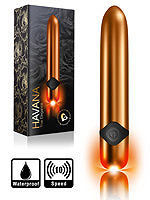 10 Speed Havana True Elegance Bullet Vibrator - Gold