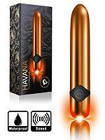10 Speed Havana True Elegance Bullet Vibrator - Gold