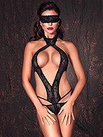 Anais - Alexandra Bodysuit ouvert schwarz