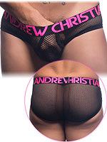 Andrew Christian - Retro Net Brief mit Almost Naked - Schwarz