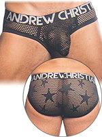 Andrew Christian - Star Mesh Brief mit Almost Naked - Schwarz