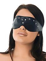 Augenmaske verziert mit Nieten