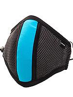 Barcode Berlin - Schutzmaske mit Filter - Grau/Neonblau