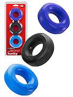 Hünkyjunk - C-Ring Multipack - Schwarz + Cobalt + Navy
