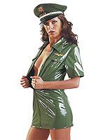 Lack Uniformkleid grün
