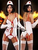 Lolitta - Sexy Nurse Dessous Kostüm Set