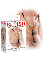 Metall Penisring & Brustklammern Set von Fetish Fantasy