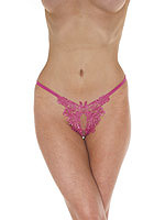 Open G-String Flyflower - pink - One Size