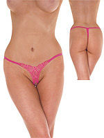 Open G-String - pink - One Size
