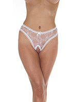 Open G-String - weiss - One Size