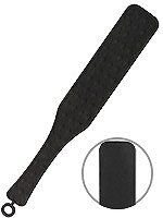 OUCH! Silicone Textured Paddle - Schwarz