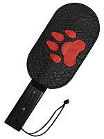 Puppy Paw Echtleder Paddle mit Roter Pfote