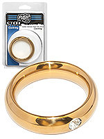 Push Steel - Golden Diamond Donut Cockring, B-Ware - 45mm